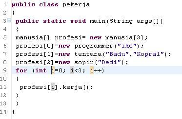 contoh polimorfisme